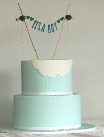Abby's Baby Shower Cake (July 2014)